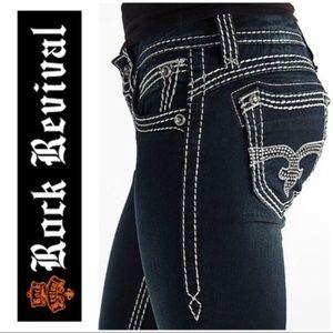 Rock Revival Aida Skinny Bling Jeans 25